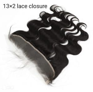 Lace closure 30 cm x 5 cm Indian hair