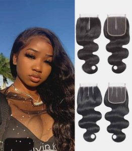 Woman Lace Closure HD 5x5 inches