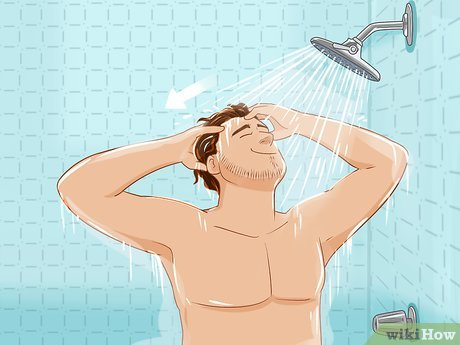 Shower whit a hair replacement system