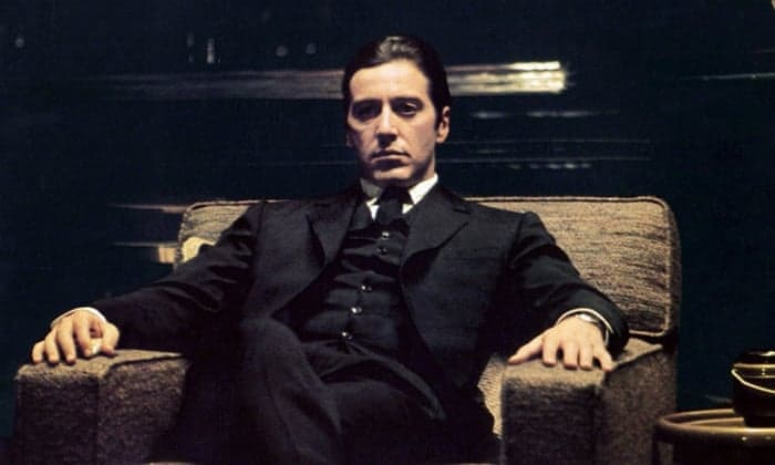 Al Pacino in The Godfather movie